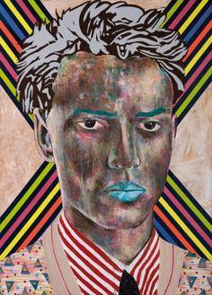 Mustafa Maluka 2009- oil and acrylic on canvas