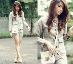 Suit up (by Anastasia Siantar) http://lookbook.nu/look/4730559-Ramune-Hollie-Set-Louis-Vuitton-Heartbreaker