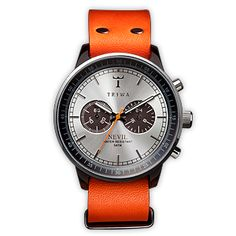 Watches - TRIWA Nevil havana brown with orange leather straps Cool Watches, Watches For Men, Dream Watches, Wrist Watches, Havana Brown, Brown Band, Fancy, Beautiful Watches, Chronograph