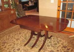 Duncan Phyfe dining table & chairs - $325 (North Spokane)