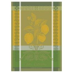 Check out this item at One Kings Lane! S/2 Kitchen Towels, Citron Zeste