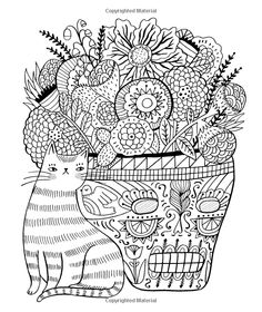just add color day of the dead 30 original illustrations to color customize - Cool Coloring Books For Adults