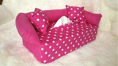 Wesega / Ružový s bodkami-dekoračný obal na papierové vreckovky Good Things, Couture, Box, Cover, Handmade, Snare Drum, Hand Made, Haute Couture, Handarbeit