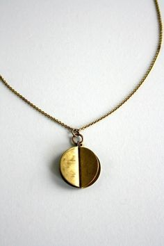 small sphere necklace by LauraLombardiJewelry