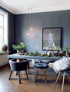 Skandi Style: 8 elegant solutions - Co Working room wall design . Decor, Room, Oak Furniture, Dining Room Design, Home Decor, Room Inspiration, House Interior, Dining Room Decor, Interior Design