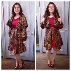 Hannah Is Modeling This Absolutely GORGEOUS St. John Leopard Coat, Paired  With Size 8.5