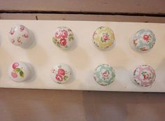 cupboard knobs with cath kidston paper by my little vintage attic | notonthehighstreet.com