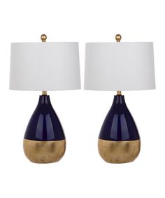 Another great find on #zulily! Navy & Gold Table Lamp - Set of Two #zulilyfinds