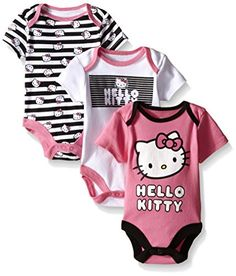 Amazon.com  Hello Kitty Baby Girls  Value Pack Bodysuits 6a6ed9af28fd6