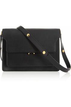 MARNI - Mini Trunk in black leather Marni | Leather shoulder bag | NET-A-PORTER.COM
