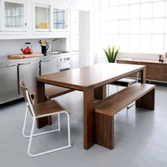 Modern Wood Kitchen Table mandaue foam wooden dining table and chairs #chairs #wood