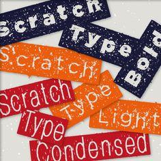 Scratch Type by Thuna http://it.fotolia.com/id/73049758
