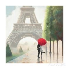Paris Romance II Print by Marco Fabiano at AllPosters.com