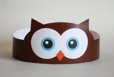 Create your own Owl Crown! Print, cut & glue your owl crown together & adjust to fit anyones head! Art For Kids, Crafts For Kids, Arts And Crafts, Paper Crafts, Crown Printable, Printable Paper, Owl Classroom, Paper Owls, Hat Crafts