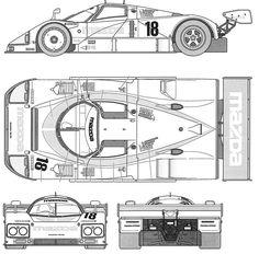 Paper Model Car, Paper Car, Le Mans, Blueprint Drawing, Slot Car Racing, Auto Racing, Nascar, Free Cars, Car Colors