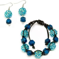 Share your favorite products on Pinterest and receive a 5 dollars off a 50 dollar order coupon! (Minimum $50 order after volume discount) Brooke Shamballa Bracelet & Earring Set | Free Jewelry Patterns | Prima Bead