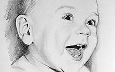 Portrait Baby Bleistiftzeichnung