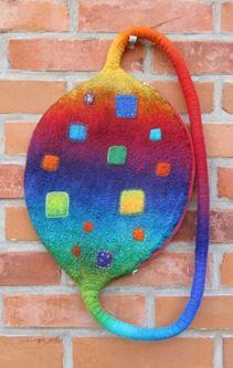 Beautiful felted purse by Jana Muchalski    Love the design.