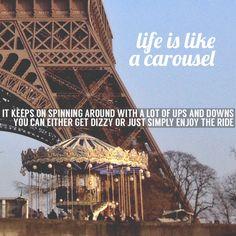 life is like a carousel