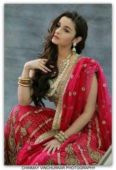 "Alia Bhatt on the cover of ""Bridal Mantra"" - Bollywood Vogue Bollywood Saree, Bollywood Fashion, Bollywood Actress, Red Saree, Bollywood News, Indian Celebrities, Bollywood Celebrities, Saris, Alia Bhatt Saree"
