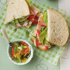 Bring life back into your lunch with Ham-and-Fontina Sourdough Sandwiches. Deli ham gets dressed up with a pesto-mayonnaise mixture,...