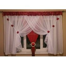 string net curtain / white voile / 126a