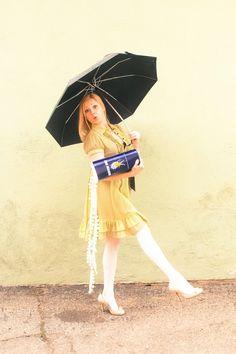 Morton Salt girl costume for Halloween