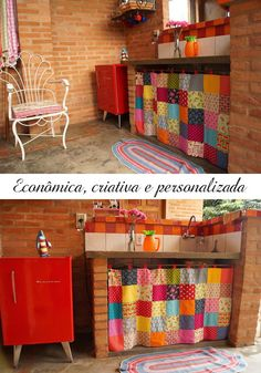 Home bar diy ideas laundry rooms ideas Diy Bar, Vintage House, Kitchen Decor, Boho Kitchen, Boho Decor, Patchwork Curtains, Home Decor, Home Deco, Home Diy