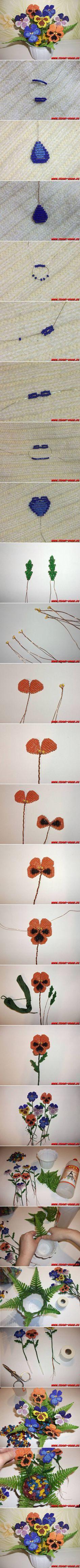 DIY Beautiful Flowers with Beads   iCreativeIdeas.com LIKE Us on Facebook ==> https://www.facebook.com/icreativeideas