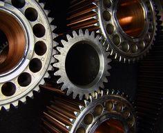 Reduction gears on Pratt & Whitney Canada PT6 gas turbine engine.