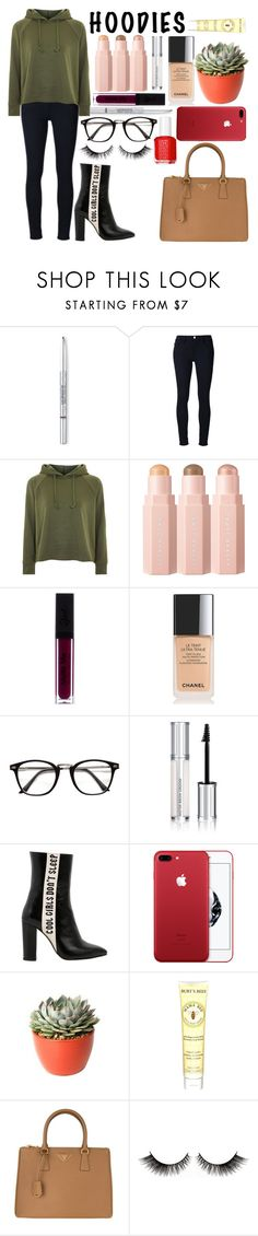 """""""Untitled #249"""" by ellen-frisk ❤ liked on Polyvore featuring Christian Dior, Frame, Topshop, Chanel, Givenchy, Havva, PLANT, Burt's Bees, Prada and Essie"""