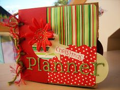 The Fine Art of Rambling On...: CHRISTMAS PLANNER Class - Paper Bag Book tutorial instructions