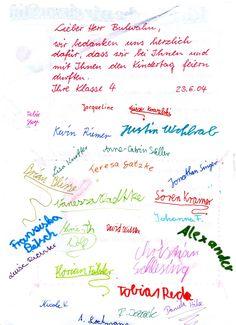 Dankeskarte der Klasse 4 der Grundschule Ludwigsfelde Bullet Journal, Success Factors, New Years Eve Party, Thanks Card, Primary School