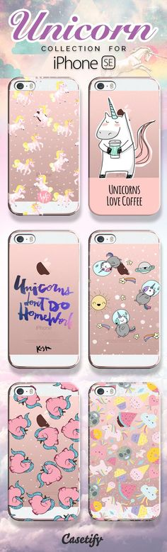 Unicorns don't do homework! Shop our unicorn collection for the new iPhone SE now! https://www.casetify.com/search?keyword=unicorn | @casetify
