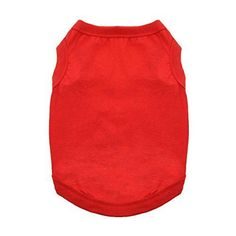 Cotton Dog Tank (Flame Scarlet Red, S)