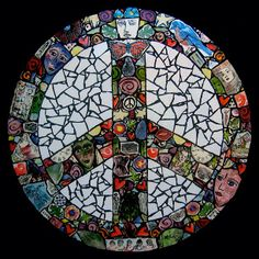 peace love good vibes ☮♥♒  Peace Sign Mosaic by Tiffany Miller