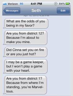 Hunger Games pick up lines.
