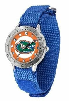 Florida Gators Youth Watch Velcro Strap Watch by SunTime. $29.95. Officially Licensed Florida Gators Youth Watch. Kids & Toddlers. Velcro Strap. Adjustable Band. Stainless Steel Back. Florida Gators Youth Watch Velcro Strap Watch. The metal alloy case is light weight with a stainless steel back and a sporty adjustable Velcro strap for the perfect, comfort youth fit. The Gators large team logo creates an eye popping prideful statement. The kid friendly easy-to-read han...