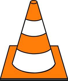 Orange Striped Road Cone