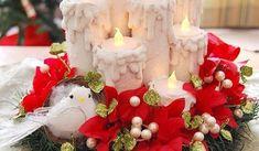 44 Fabulous Christmas Decoration Ideas using Candles Modern Christmas, Christmas Colors, Handmade Christmas, Christmas Crafts, Christmas Ornaments, Christmas Candle Decorations, Christmas Tree Candles, Holiday Decor, Table Decorations