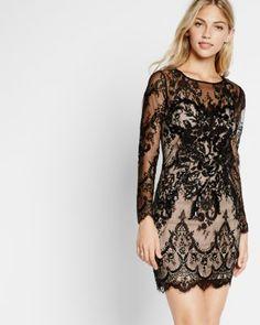 Lace sheath dress (S) I Express