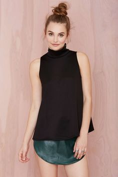 Everything Turtle Neck - Top Knot Mock On Scuba Top | Shop What's New at Nasty Gal