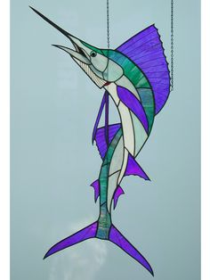 """Stained Glass sail Fish   41"""" Stained Glass"""