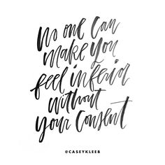 Letteringn by @caseykleeb // Said by the strong and lovely Eleanor Roosevelt. So much power in this statement.