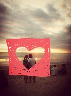 Sunset love in Kuta Beach