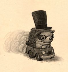 Hedgehog goes for a ride - beep beep. Learn how to become an illustrator at https://svslearn.com by www.willterry.com