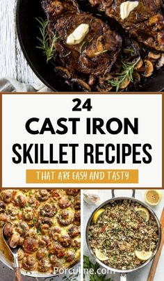 Cast Iron Skillet Cooking, Best Cast Iron Skillet, Iron Skillet Recipes, Cast Iron Recipes, Skillet Meals, Dinner Dishes, Main Dishes, Iron Diet, Healthy Low Calorie Meals