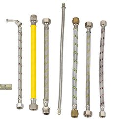 A metal hose is a flexible metal line element. There are two basic types of metal hose that differ in their design and application: stripwound hoses and corrugated hoses. Stripwound hoses have a high mechanical strength (e. Flexible Metal Hose, Braided Hose, Water Tube, Abh, Types Of Metal, Braids, Bang Braids, Cornrows, Braid Hairstyles