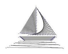 Resultado de imagen para string art simple sailboat