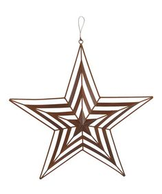 Craft Outlet 6\'\' Galvanized Tin Star Wall Décor - Set of Four ...